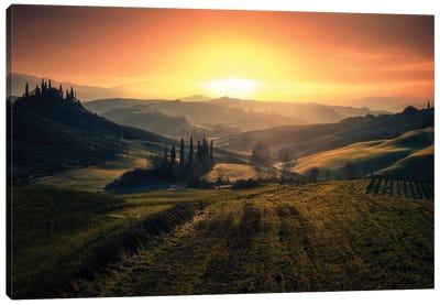 Val D'Orcia In The Morning Canvas Art Print