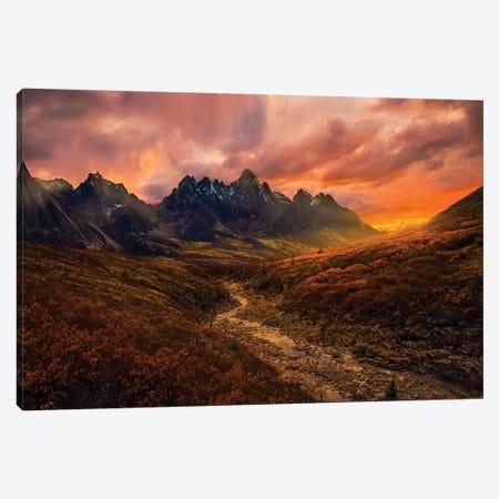 Yukon Sunset Canvas Print #OXM5895} by Greg Stokesbury Canvas Print