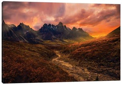 Yukon Sunset Canvas Art Print
