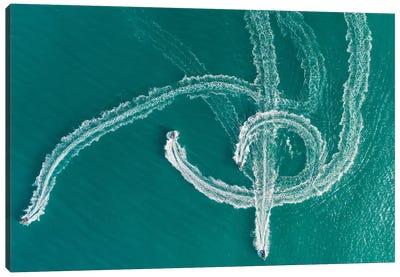Speedboat Symphony Canvas Art Print