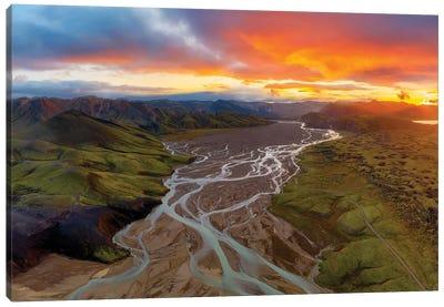 Highland Sunset Canvas Art Print