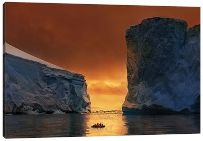 Antarctic Fire Gate Canvas Art Print