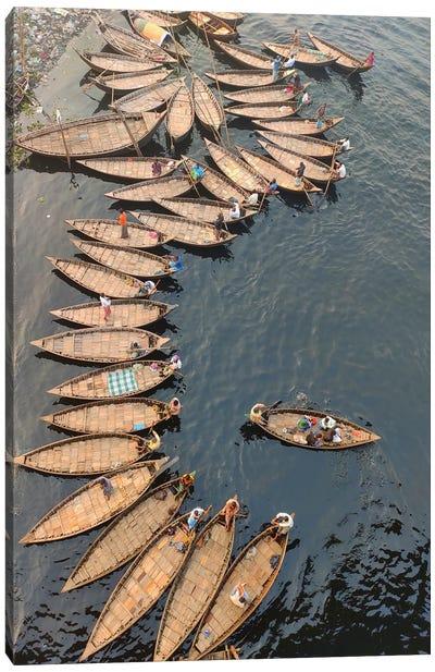 Boatmen Athe Boats Canvas Art Print