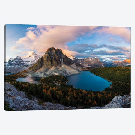 Sunrise At Mt. Assiniboine Canvas Print #OXM5938} by Jenny L. Zhang Canvas Print
