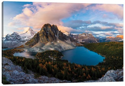 Sunrise At Mt. Assiniboine Canvas Art Print