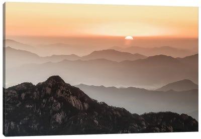 Huangshan Sunrise Canvas Art Print