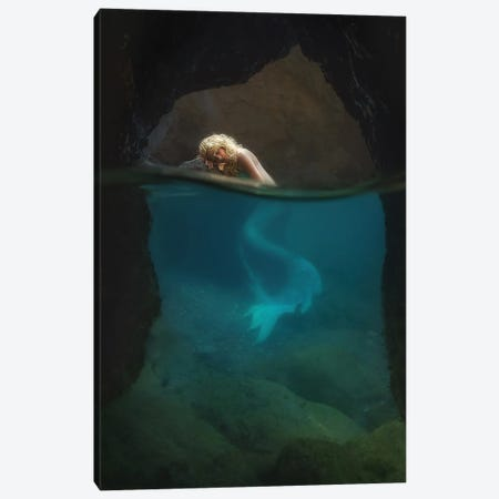 The Rest Of The Mermaid Canvas Print #OXM6056} by Paolo Lazzarotti Canvas Art Print