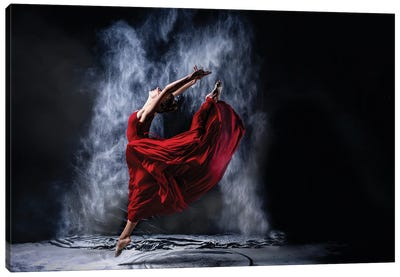 Red Dancing Canvas Art Print