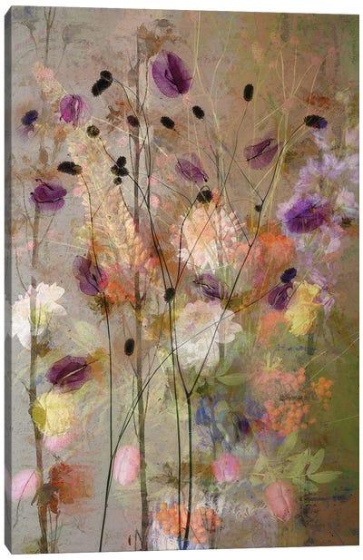 Painterly Flowers Canvas Art Print