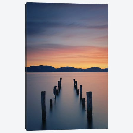 Sunrise On The Lake Canvas Print #OXM6107} by Simon Rohl Canvas Art Print