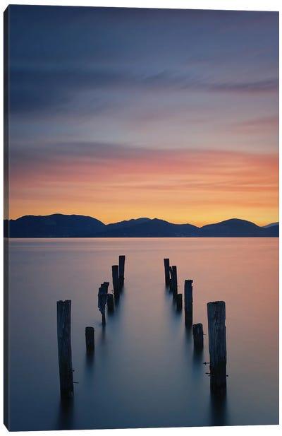 Sunrise On The Lake Canvas Art Print