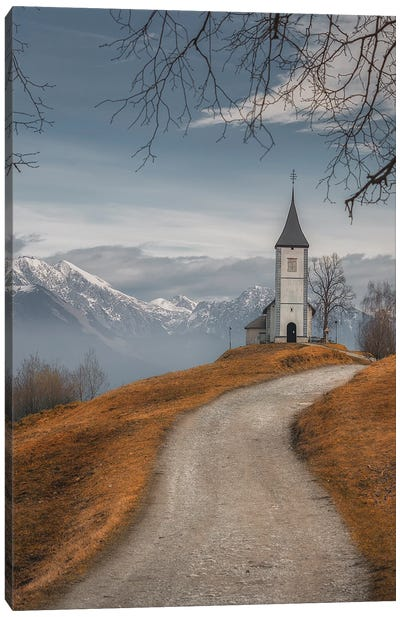 On The Top Of The Hill Canvas Art Print