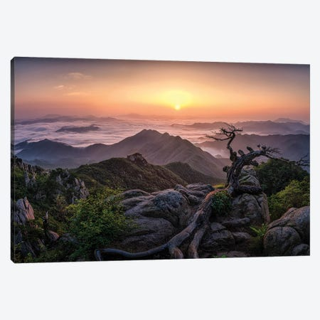 Sunrise On Top Canvas Print #OXM6135} by Tiger Seo Canvas Art