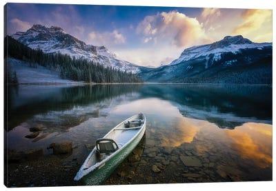 First Snow Emerald Lake Canvas Art Print