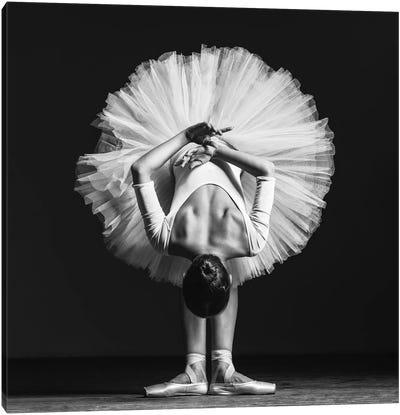 Ballerina At Class Canvas Art Print