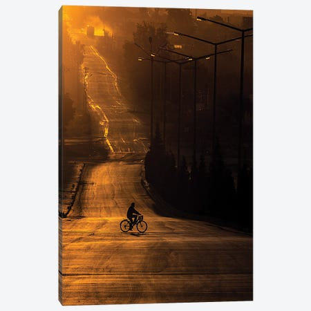 On The Way To Work Canvas Print #OXM6260} by Emir Bagci Art Print