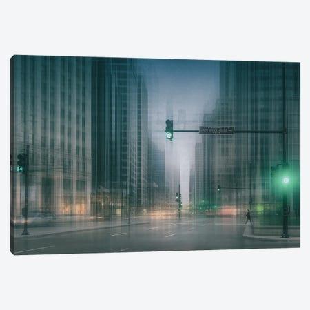 Green Wave Canvas Print #OXM6368} by Roswitha Schleicher-Schwarz Canvas Artwork
