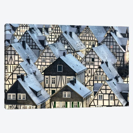 Half-Timbered Houses Canvas Print #OXM6380} by Thomas Siegel Canvas Artwork