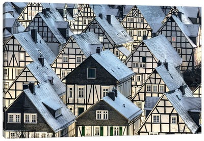 Half-Timbered Houses Canvas Art Print