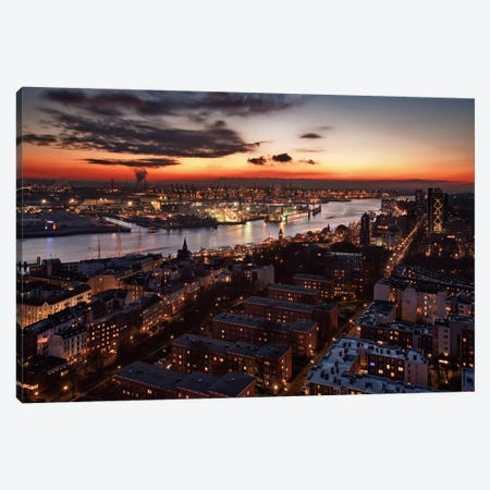 Wintersunset Canvas Print #OXM63} by Stefan Klören Art Print