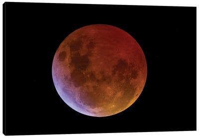 Moon Total eclipse Canvas Art Print
