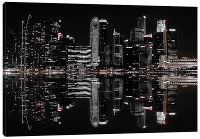 Night In The City Canvas Art Print
