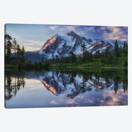 Sunrise On Mount Shuksan Canvas Print #OXM687} by James K. Papp Canvas Art Print