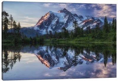 Sunrise On Mount Shuksan Canvas Print #OXM687