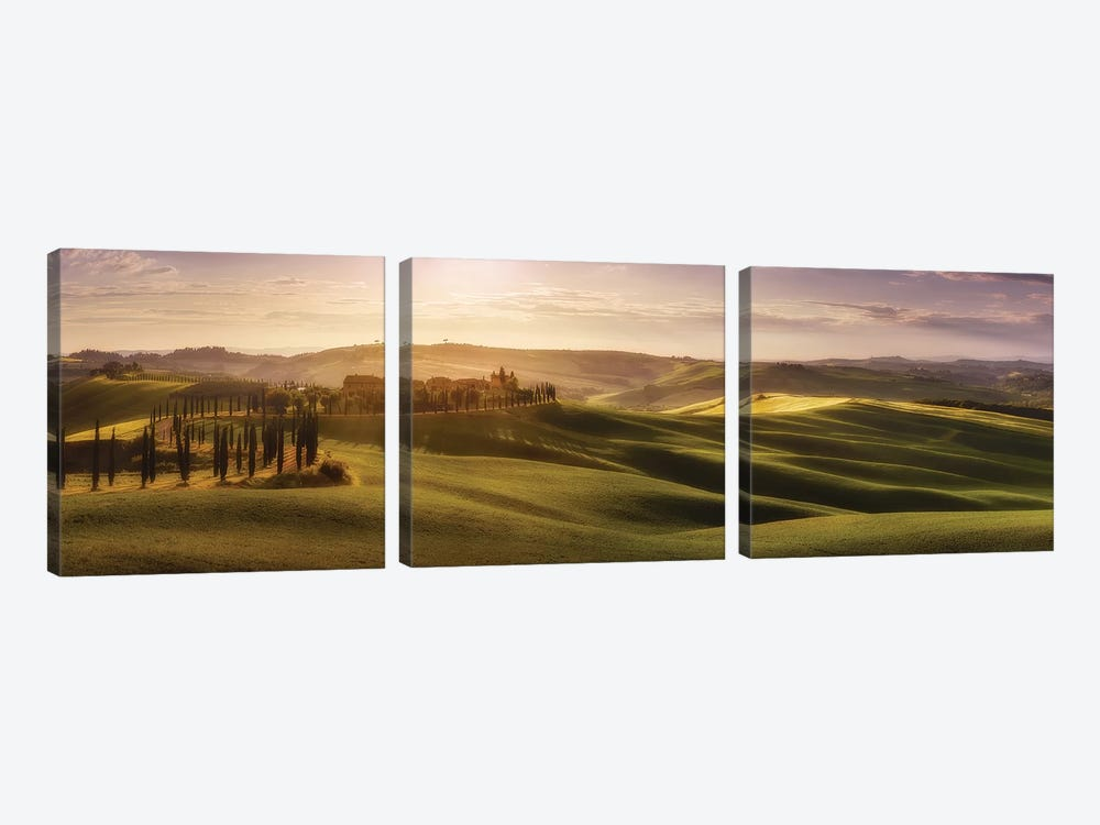 Waves Of Light by Javier de la Torre 3-piece Canvas Art Print
