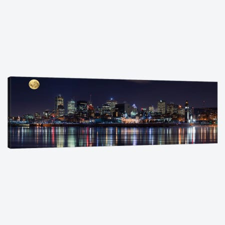 Montreal`s Night Canvas Print #OXM70} by Yuppidu Canvas Artwork