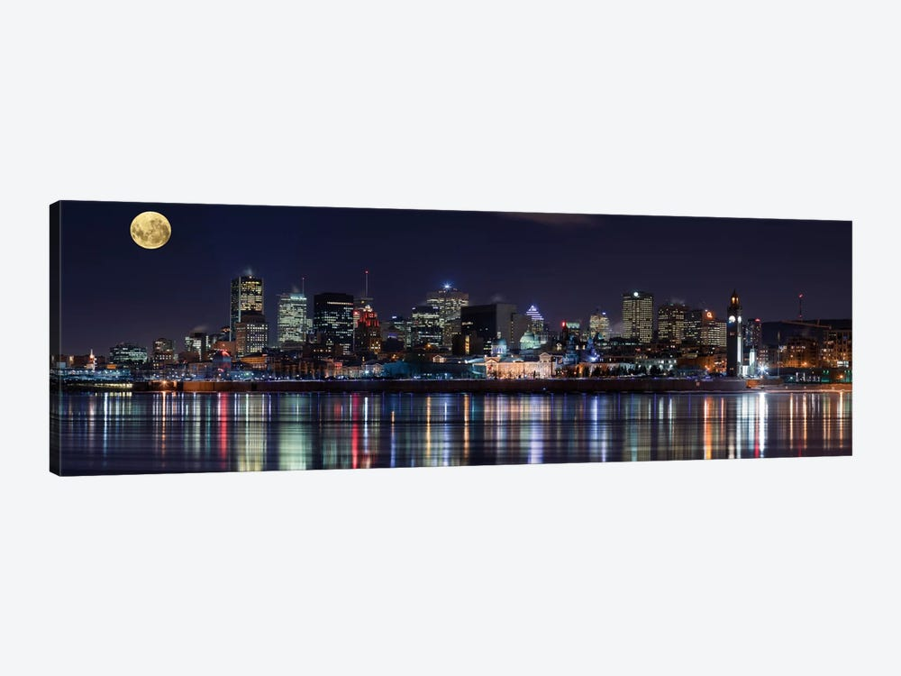 Montreal`s Night by Yuppidu 1-piece Canvas Print