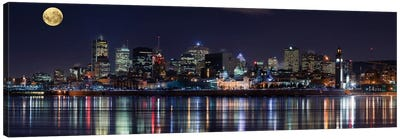Montreal`s Night Canvas Art Print