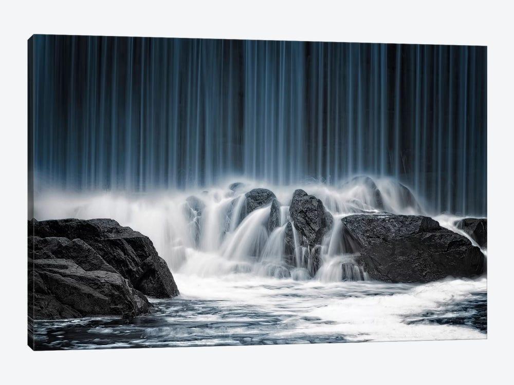 The Blue Curtain by Keijo Savolainen 1-piece Art Print