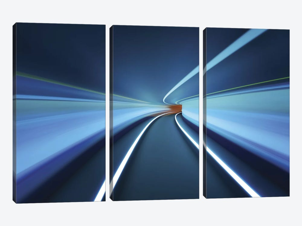 Tunnel Vision by Robert Work 3-piece Canvas Artwork