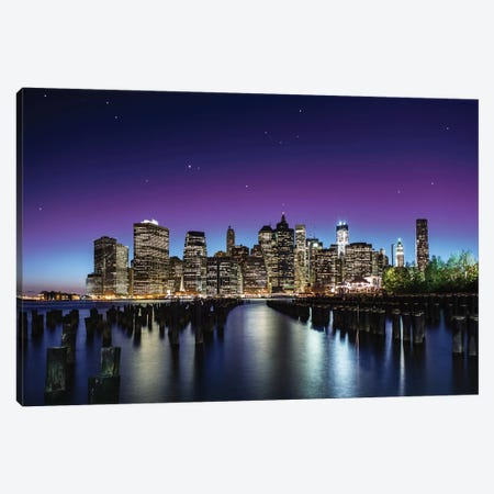 New York Sky Line Canvas Print #OXM88} by Nanouk El Gamal Canvas Art Print