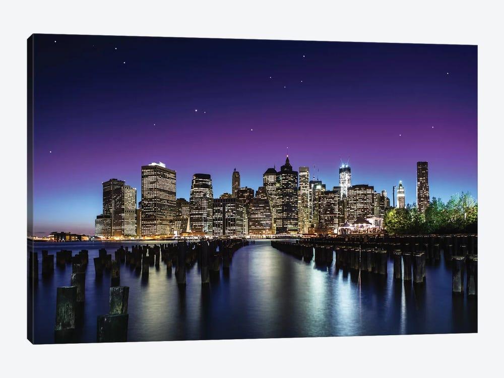 New York Sky Line by Nanouk El Gamal 1-piece Canvas Art