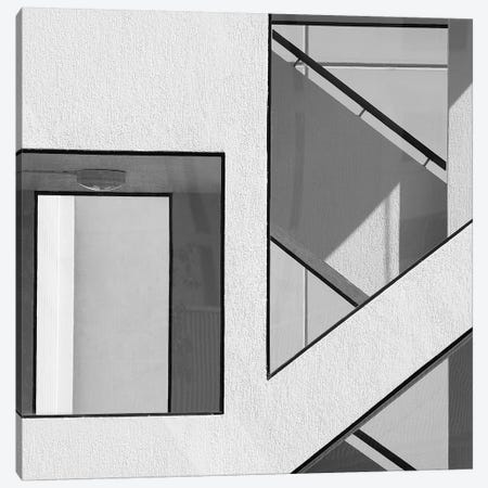 Stairwell Geometry Canvas Print #OXM8} by Jacqueline Hammer Canvas Wall Art