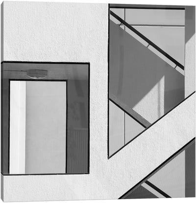 Stairwell Geometry Canvas Art Print