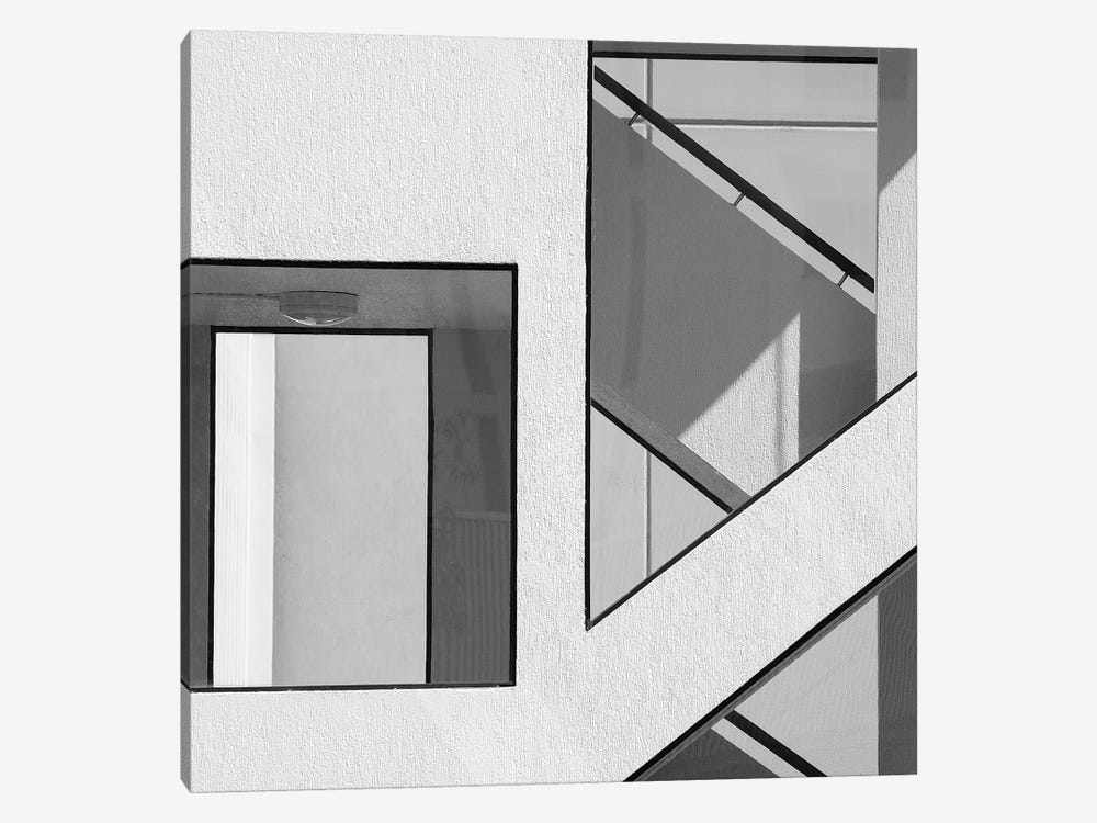 Stairwell Geometry by Jacqueline Hammer 1-piece Canvas Art Print