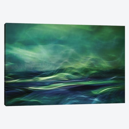 Northern Lights Canvas Print #OXM90} by Willy Marthinussen Canvas Artwork