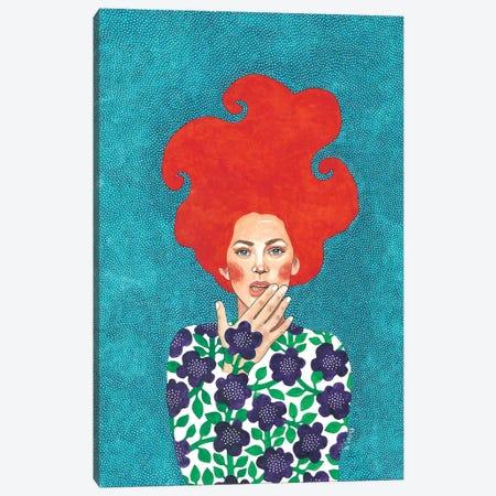Keep Your Lips Sealed Canvas Print #OZD23} by Hülya Özdemir Canvas Print