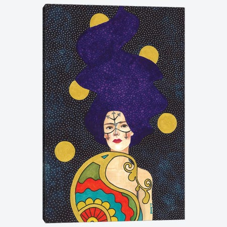 Make A Space For My Body 3-Piece Canvas #OZD32} by Hülya Özdemir Canvas Art