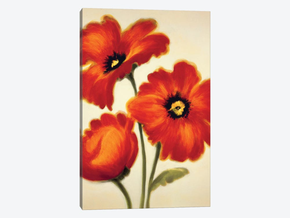 Orange Poppies by Paula Benson 1-piece Canvas Print