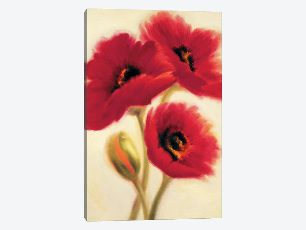 Red Poppies by Paula Benson 1-piece Canvas Art