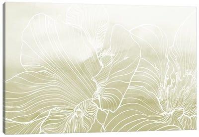Golden Florals  Canvas Art Print