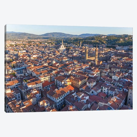 Aerial View Of Historic Center, Florence, Tuscany Region, Italy Canvas Print #PAD2} by Peter Adams Canvas Print