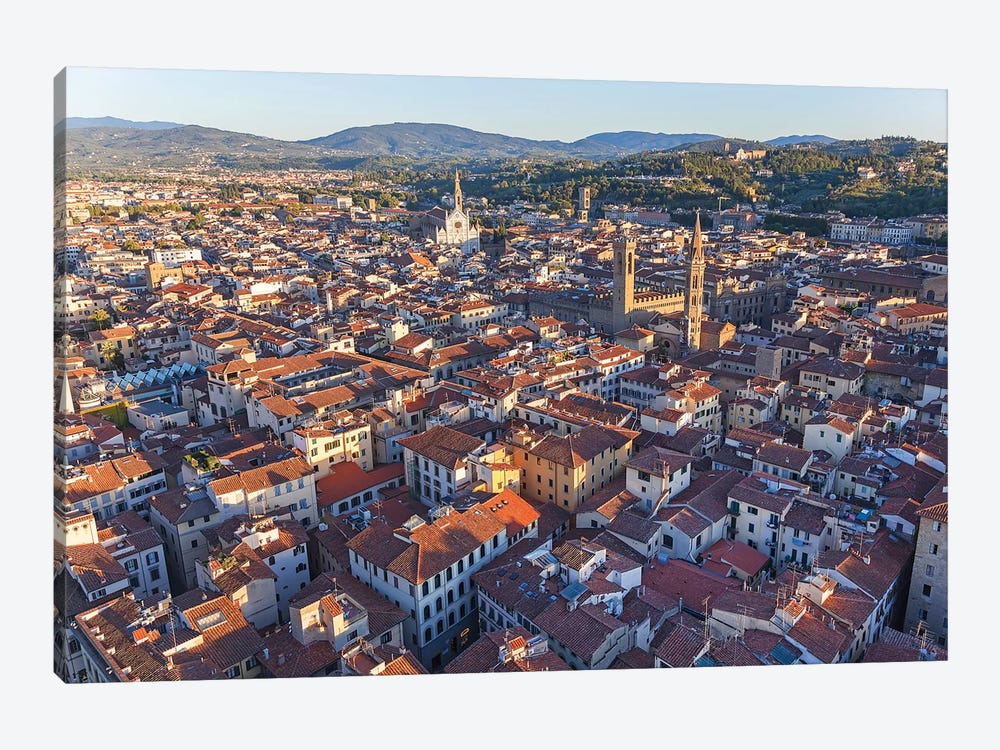 Aerial View Of Historic Center, Florence, Tuscany Region, Italy by Peter Adams 1-piece Canvas Art