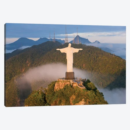 Christ The Redeemer (Cristo Redentor) I, Corcovado Mountain, Rio de Janeiro, Brazil Canvas Print #PAD3} by Peter Adams Canvas Print