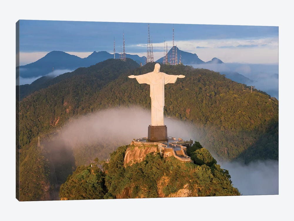 Christ The Redeemer (Cristo Redentor) I, Corcovado Mountain, Rio de Janeiro, Brazil by Peter Adams 1-piece Canvas Print