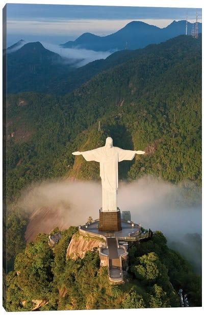 Christ The Redeemer (Cristo Redentor) II, Corcovado Mountain, Rio de Janeiro, Brazil Canvas Print #PAD4